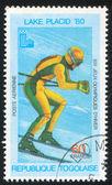 Downhill skiën — Stockfoto