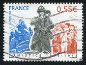 フランス - 年頃 2008年: スタンプ印刷、フランスによるショー、年頃 2008年 — ストック写真
