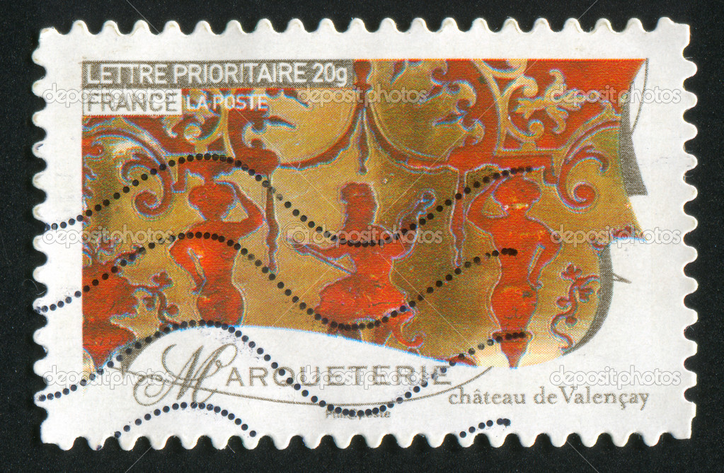 FRANCE - CIRCA 2009: stamp printed by France, shows works of fine art, incrustation, circa 2009  Stock Photo #8939322