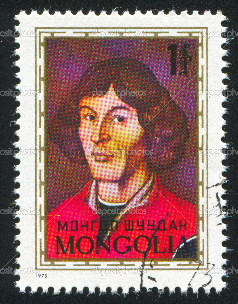 MONGOLIA - CIRCA 1973: stamp printed by Mongolia, shows  Nicolaus Copernicus, circa 1973 — Stock Photo #9128262