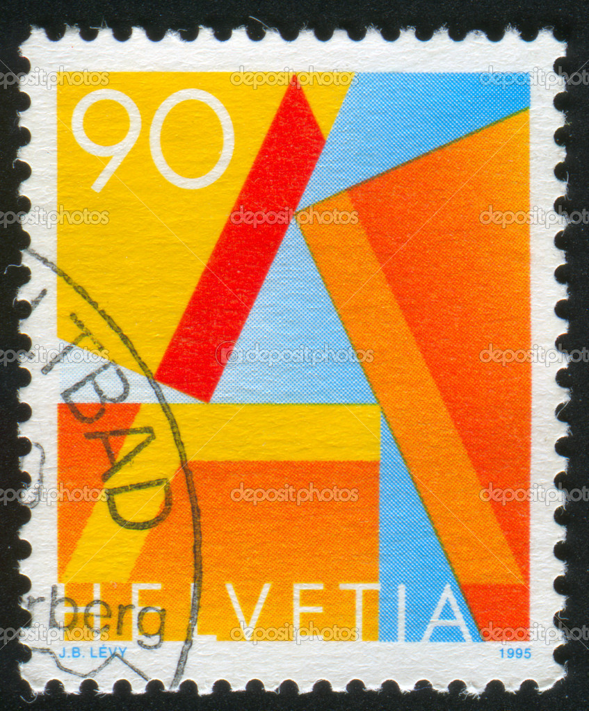 SWITZERLAND - CIRCA 1991: stamp printed by Switzerland, shows Letter A, circa 1991  Stock Photo #9129459