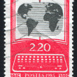Stamp printed by France - Stock fotografie