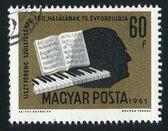 Liszt silhouette — Stock Photo