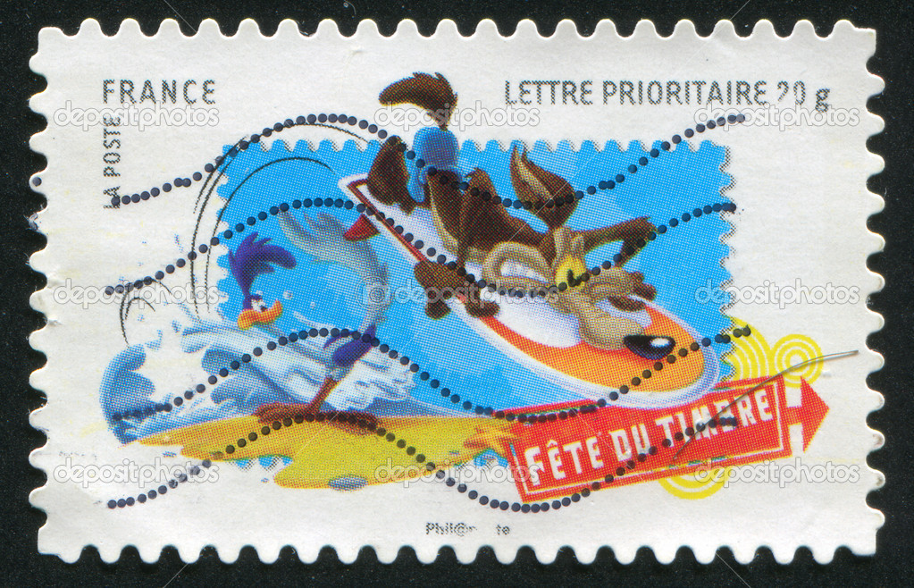 FRANCE - CIRCA 2009: stamp printed by France, shows Coyote, circa 2009 — Stock Photo #9384797
