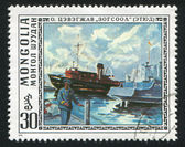Port nad jeziorem hubsugul — Zdjęcie stockowe