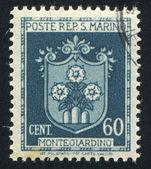 Coat of Arms of Montegiardino — Stock Photo