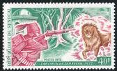 Tartarin schießen der löwe — Stockfoto