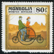 Man and Woman Riding a Bicycle — Stok fotoğraf