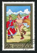 Mongoliska wresting — Stockfoto