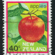 Royalty-Free Stock Photo: Stamp printed by New Zealand Apple
