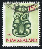 NEW ZEALAND - CIRCA 1967: stamp printed by New Zealand, shows Tiki, circa 1967 — Stock Photo