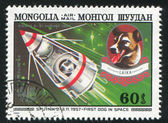 Sputnik 2 and Laika — Stock Photo