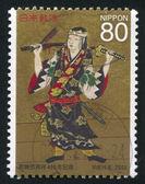 JAPAN - CIRCA 2003: stamp printed by Japan, shows Kabuki, circa 2003 — Stock Photo