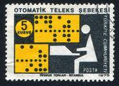 автоматическая телексной сети — Стоковое фото