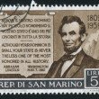 Lincoln and his Praise of San Marino — Stock Photo