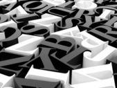Background of alphabets — Stock Photo