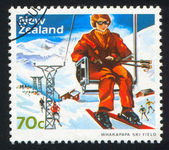 Going up the Mountain at Whakapapa Ski Field — Stock Photo