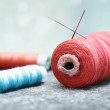 Sewing spools - Stock Photo