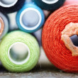 Stock Photo: Sewing spools