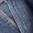 Fly front of blue jeans - Stock Photo