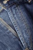 Mosca frente de blue jeans — Foto de Stock