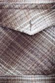 Pocket of woolen shirt — Stock Photo