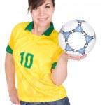 Football fan — Stock Photo #9646759