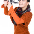 Woman iwth camera - Stock Photo