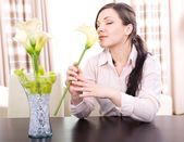 Relaxing woman — Stockfoto