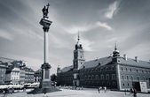 The Castle square in Warsaw — Stock Photo
