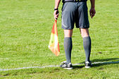 Football referee on the line — Stock Photo