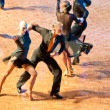 Competitors dancing latin dances at the dancing conquest - Stock Photo