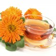 Royalty-Free Stock Photo: Marigold tea with flowers