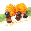 Marigold tincture with petals — Stock Photo #10189861