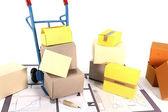 Muevete con las cajas — Foto de Stock