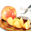 Stock Photo: Apple with Honey jar