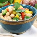 Chickpea salad — Stock Photo