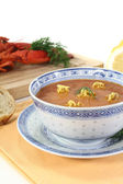 Fresh Asian Lobster Bisque — Stock Photo
