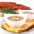 Fresh lobster bisque - Stock Photo
