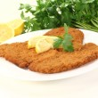 Stock Photo: Roasted Wiener Schnitzel