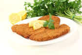 Roasted Wiener Schnitzel — Stock Photo