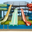 Aqua park constructions — Stock Photo