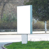 Blank billboard — Stockfoto