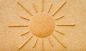Sunshine in stone on a wall — Stock Photo