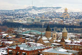 Winter view of Tbilisi city — Stock Photo