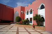 Courtyard of mediterranean villa — Stock Photo