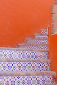 Ceramic tiles stairs — Stock Photo
