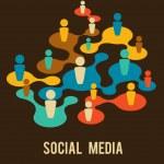Social Media and network illustration — Stock Vector #10263121
