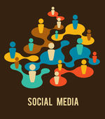 Social Media and network illustration — Stock vektor