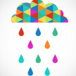 Colorful modern cloud, vector image — Stock Vector